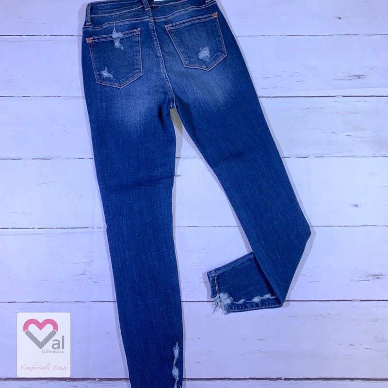 Judy Blue High Rise Cropped Destroyed Skinny Jeans