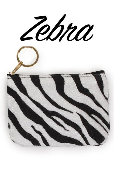 Animal Print Coin Purse Bag