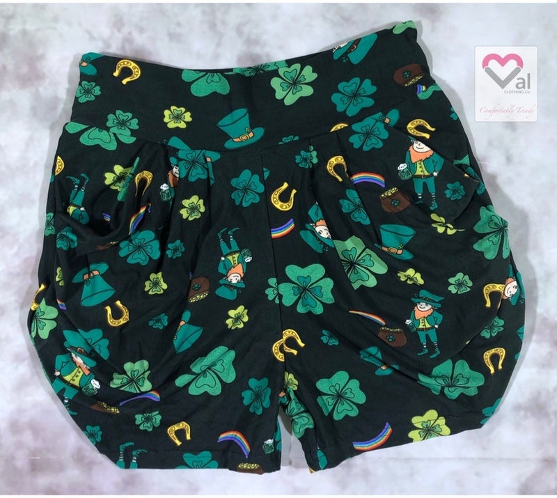 St.Patrick's Day Shorts with Pockets