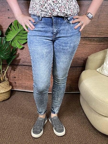 Judy Blue Acid/Mineral Wash Skinny Jeans