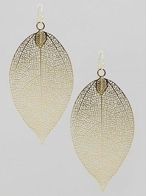 Leaf Metal Earrings