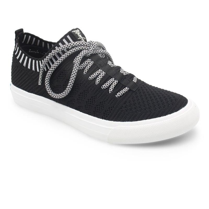 Blowfish Mazaki Black Knit Tennis Shoes