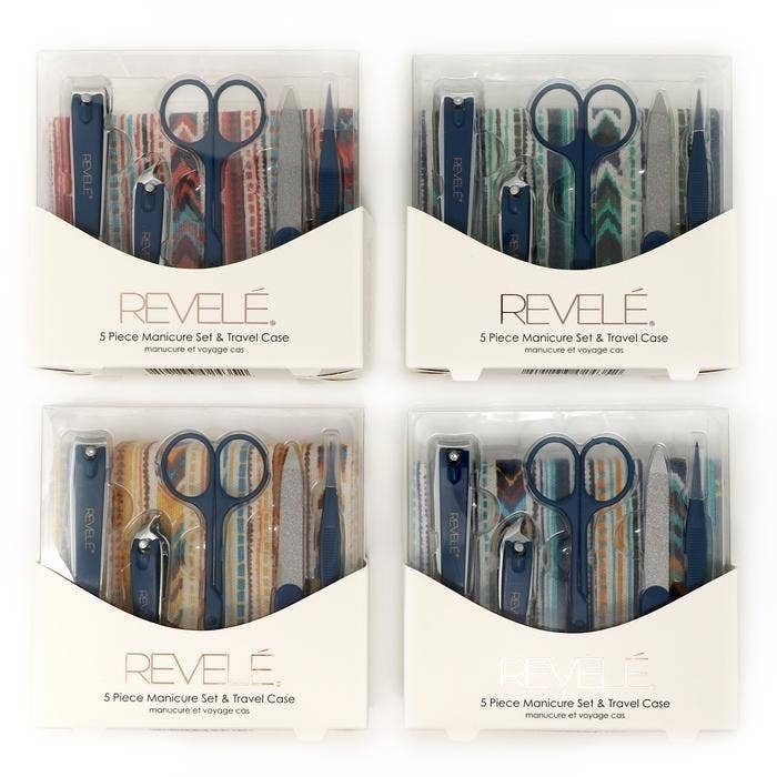 Revele 5 Piece Manicure Set with Travel Case
