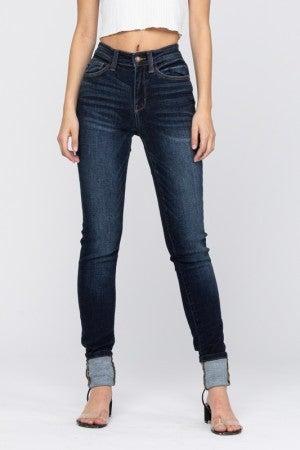 Judy Blue Dark Wash High Rise Long Skinny Jeans
