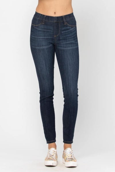 Judy Blue Dark Wash Pull On Jegging