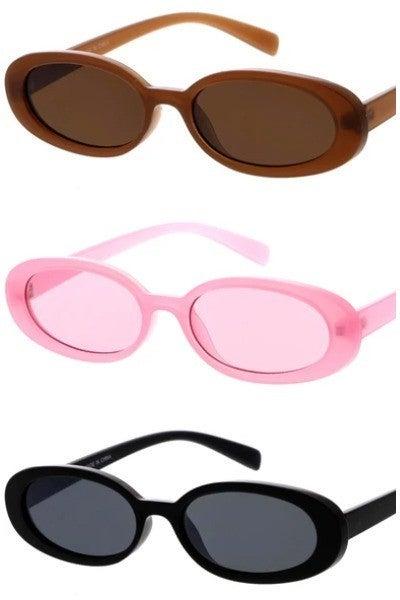 Thin Oval Vintage Fashion Sunglasses