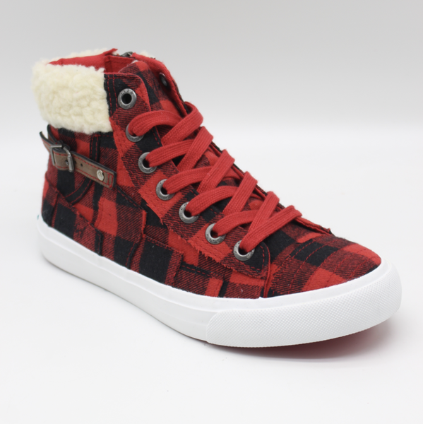 Blowfish Memphis Red Buffalo Plaid High Top Shoe