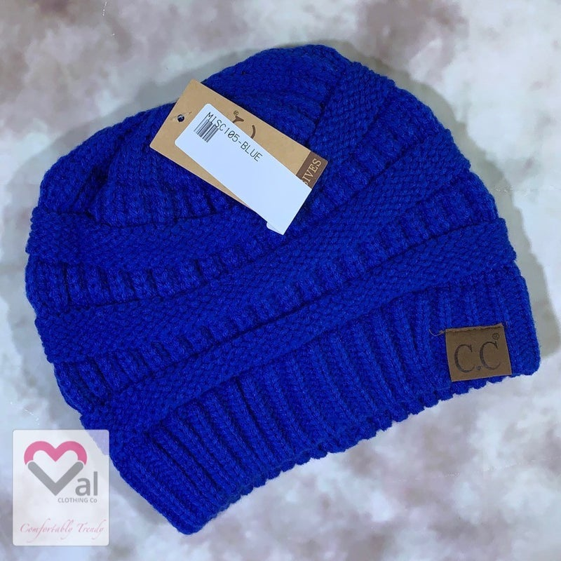 Pomless Solid Knit Beanie
