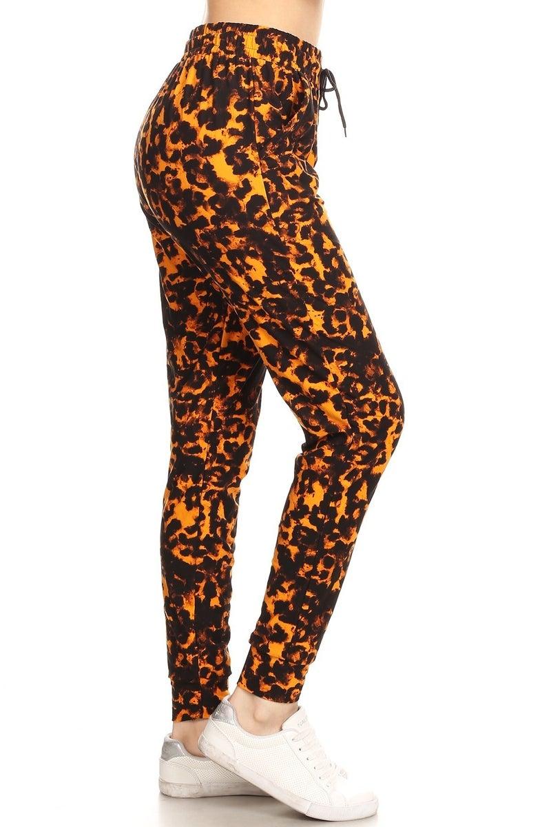 Leggings Material Natural Leopard Printed Joggers
