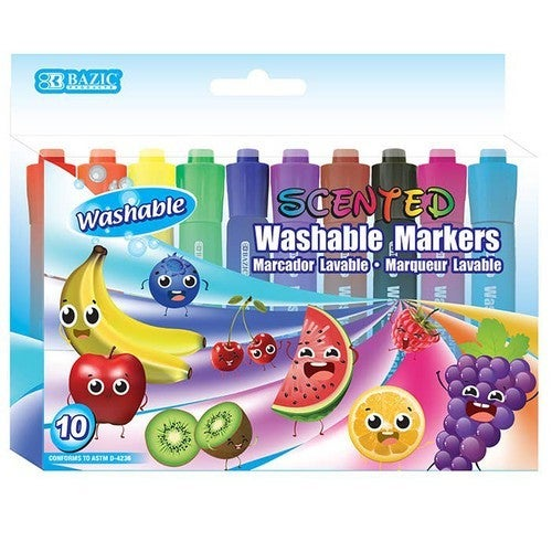 Scented Washable Markers -- 10 Pack