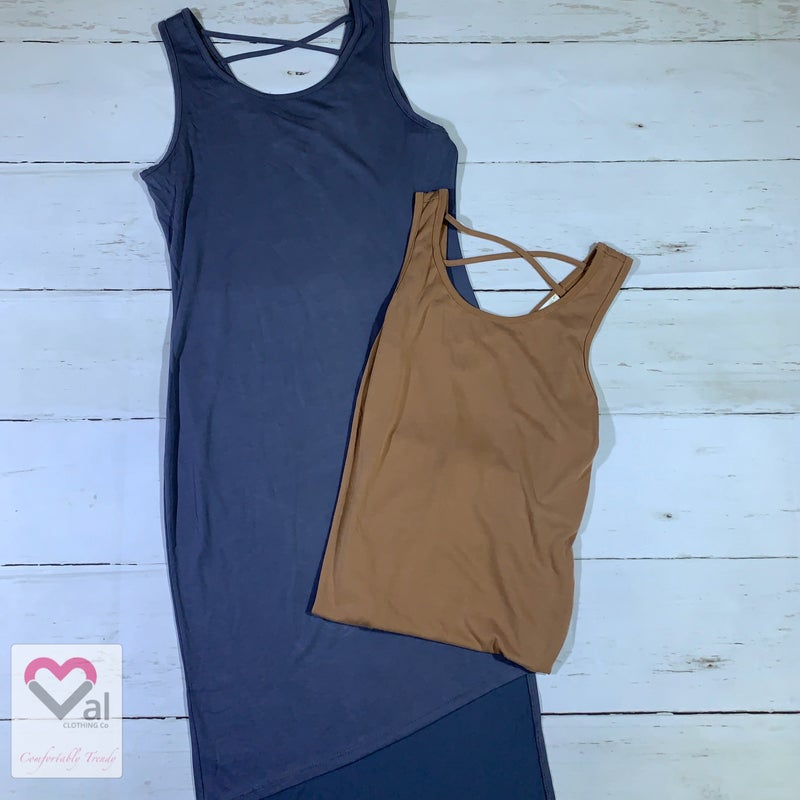 Sleeveless Solid Dress with Asymmetric Hem