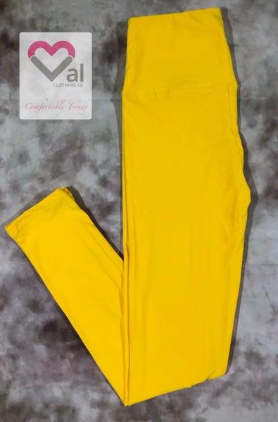 Solid Yellow Leggings