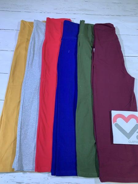 Foldover Yoga Capri Pants aka Gaucho Pants