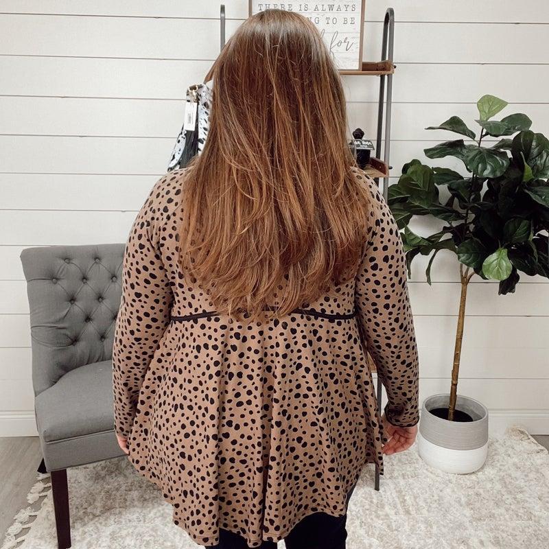 Cheetah Flowy Long Sleeve Top