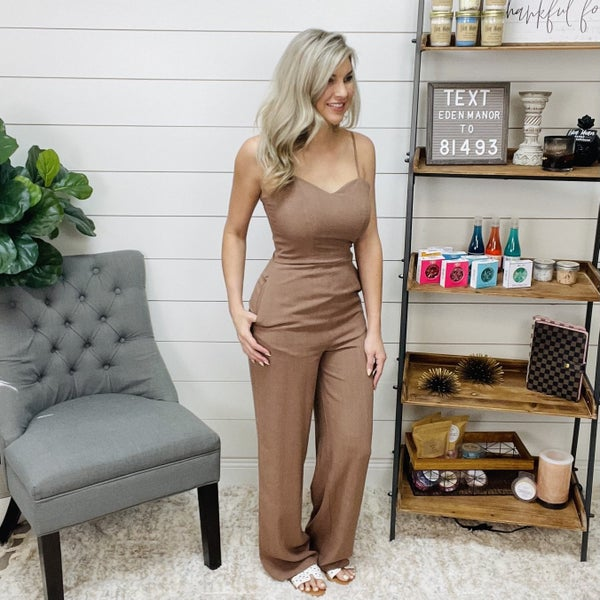 Muted Brown Jumpsuit