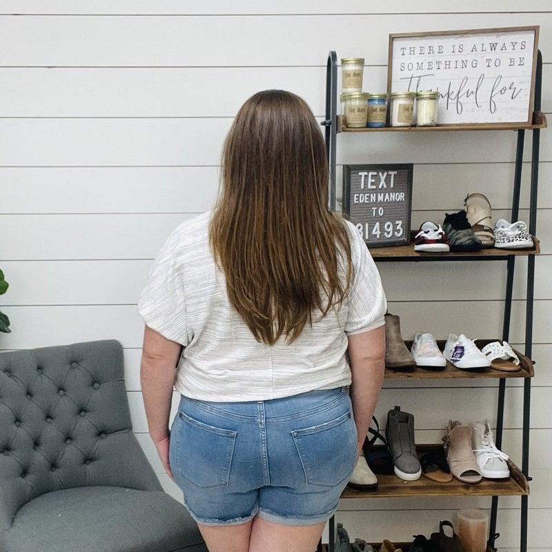 Judy Blue Light Wash Denim Shorts