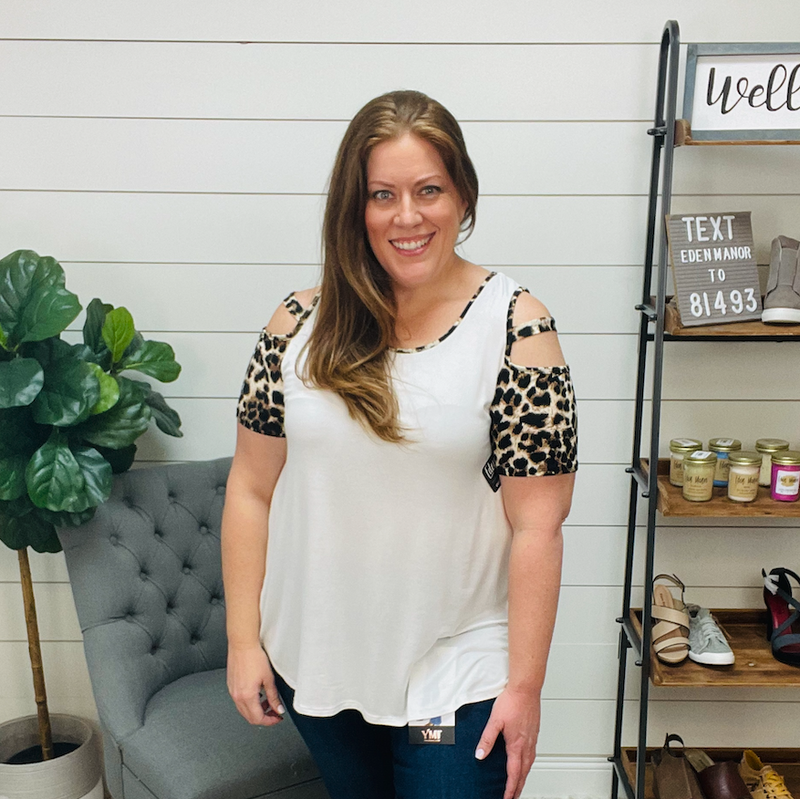 on sale - Plus Cold Shoulder Solid and Animal