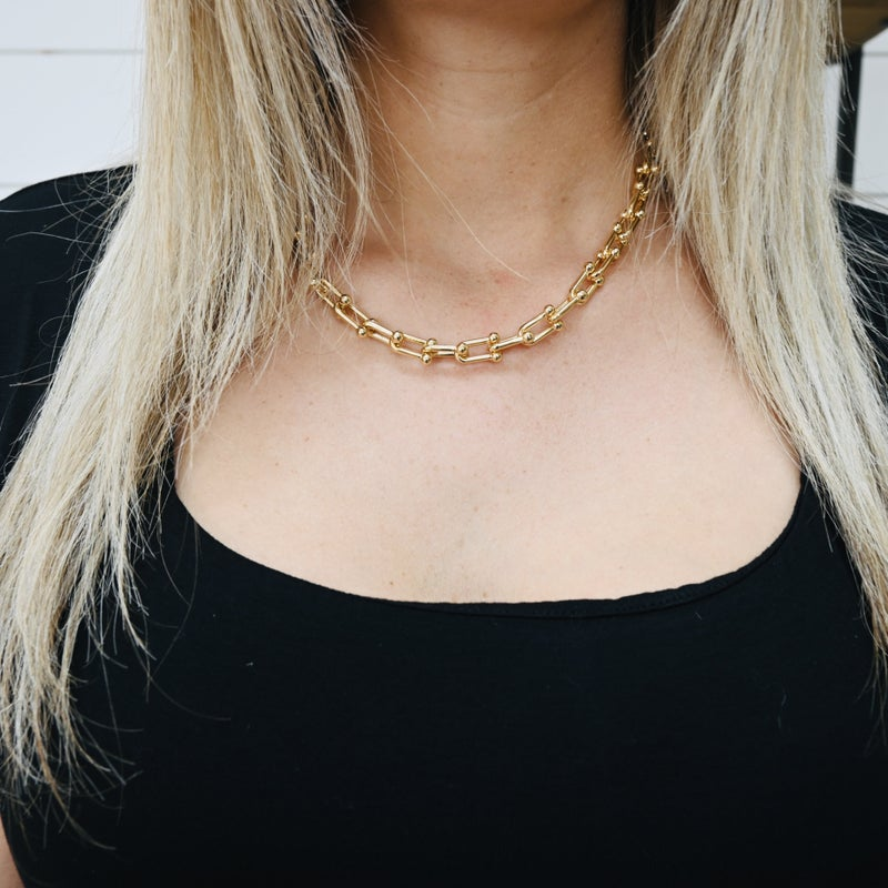 on sale - Boxy Link Gold Necklace- normally 47