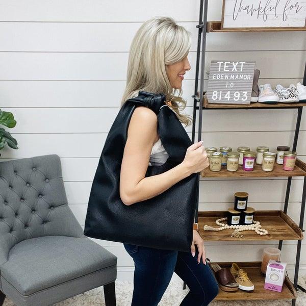 Knot Handle Bag- Black