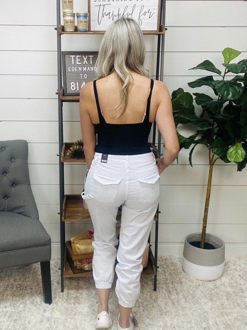 on sale - White Cargo Joggers