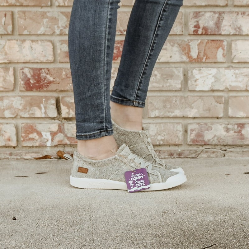 ON SALE - Daisy Eyelet Sneakers - Grey --normally 44.95