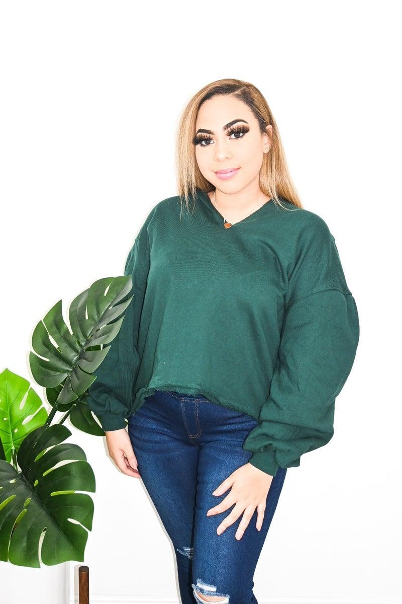 Oversized V Neck Pullover