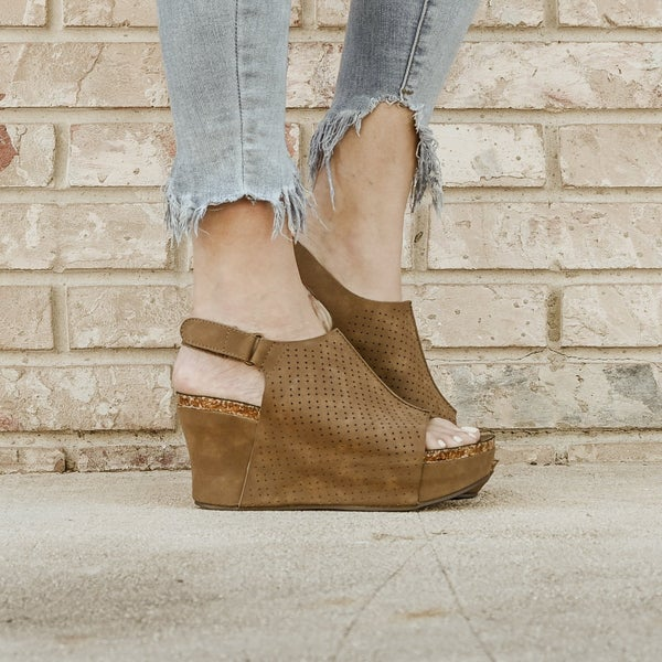 Chocolate Brown Thick Wedges