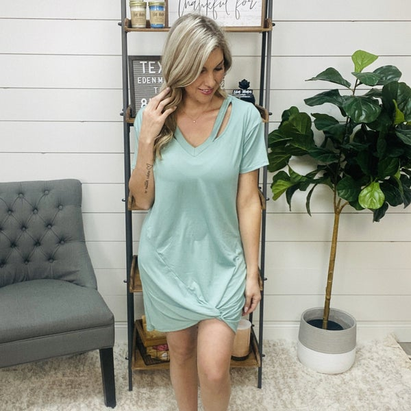 Sea Foam Green T Shirt Dress