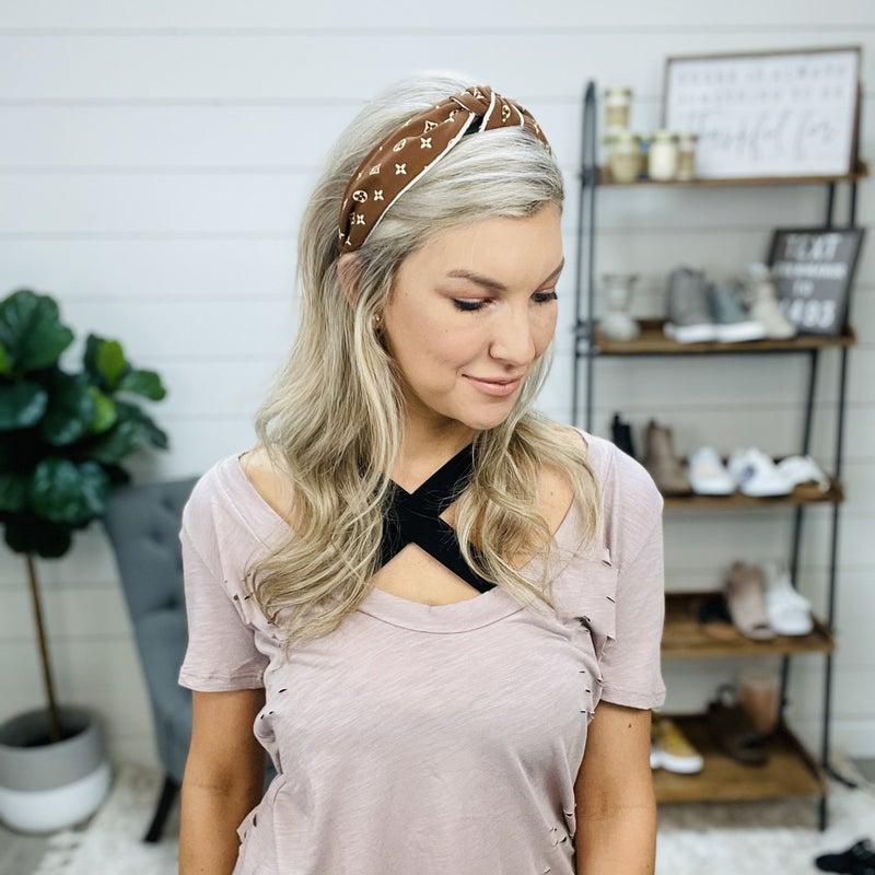 Light Brown LV Inspired Headband