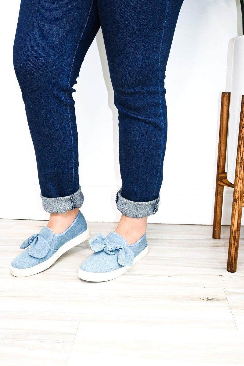 Denim Bow Sneaker