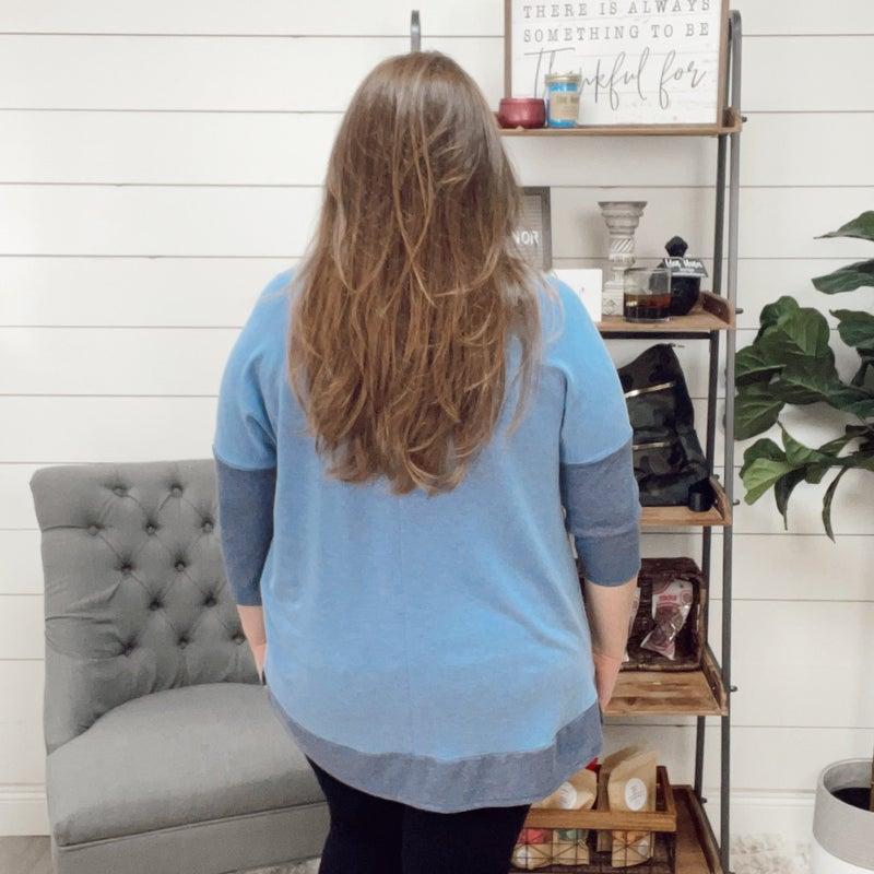 on sale - Denim Blue Soft Tee- Plus - normally 37.95