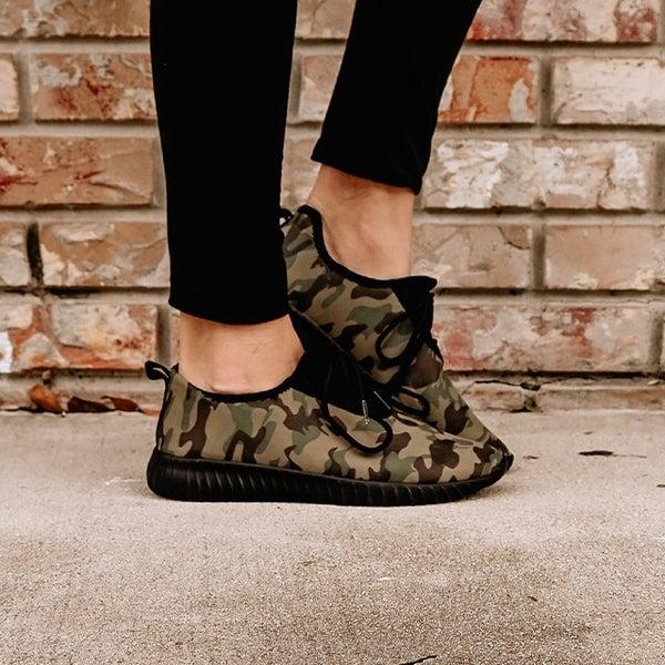 Camo Print Sneakers