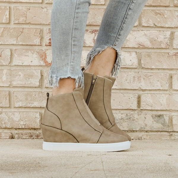 Slate Grey High Top Sneaker