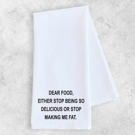 ON SALE - Dear Food Tea Towel- normally 15.99