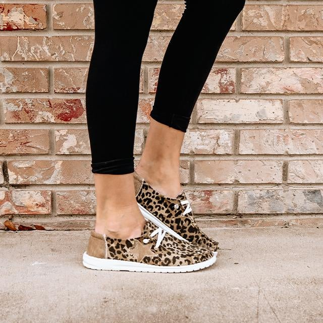 ON SALE - Lightweight Slip On Leopard Sneakers- normally 46.99