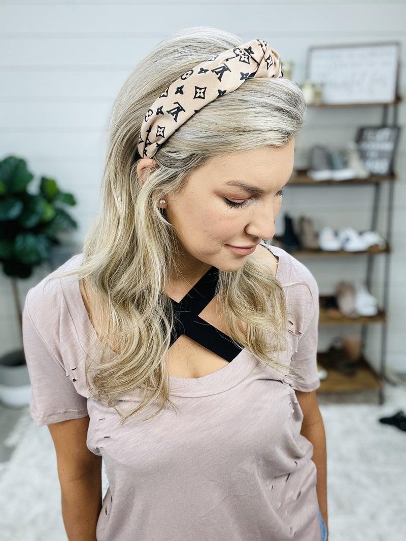 Champagne LV Inspired Headband
