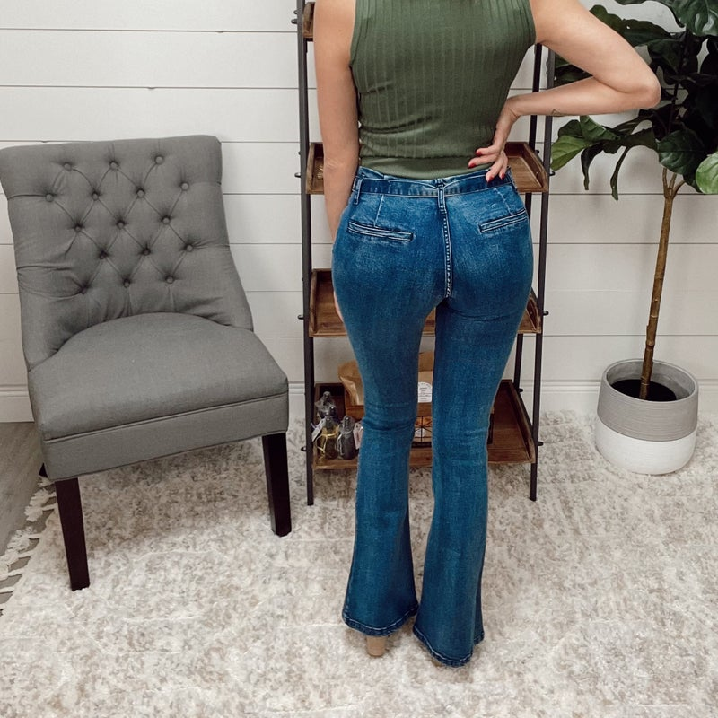 ON SALE - Paper Bag Bell Bottom Jeans- normally 59.95