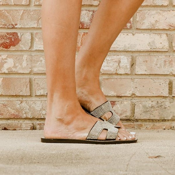Crystal Jelly Slip On Sandal