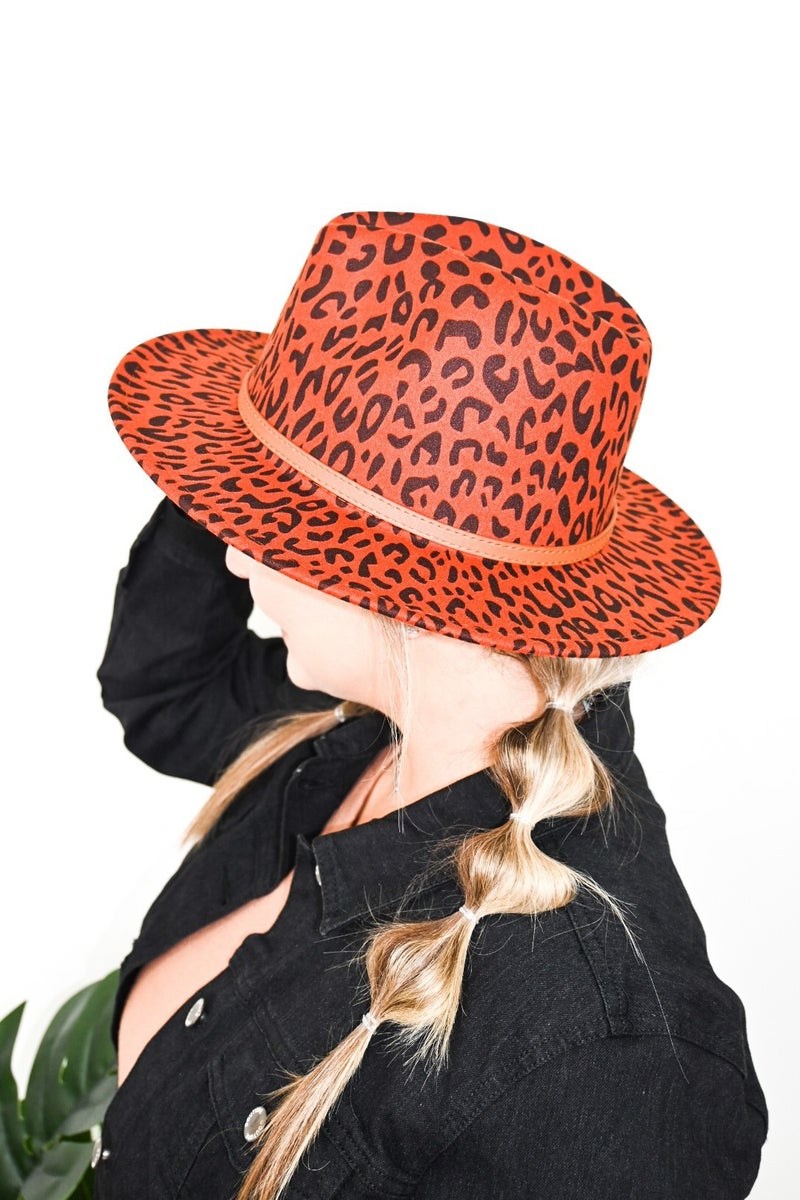 All Cheetah Belted Hat