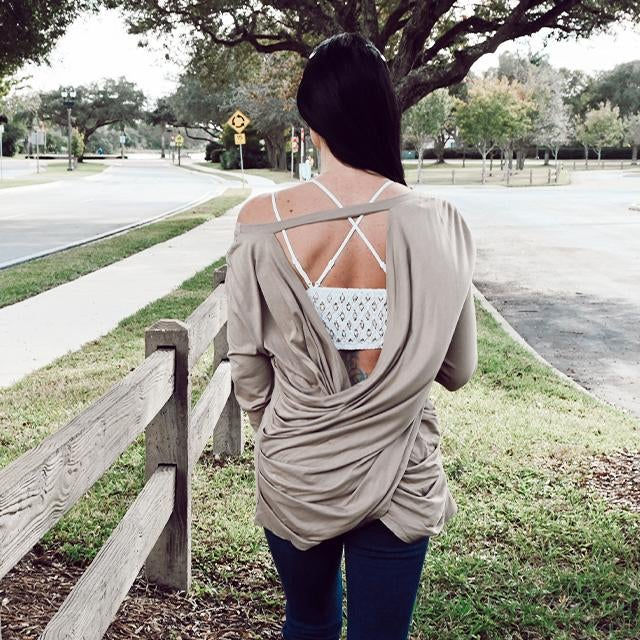 on sale - Yoga Draped Back Top- NORMALLY 34.99