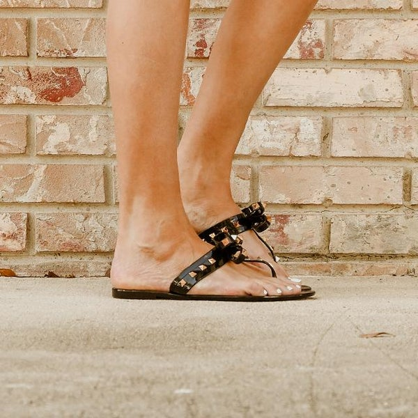Bow Tie Black Jelly Sandal