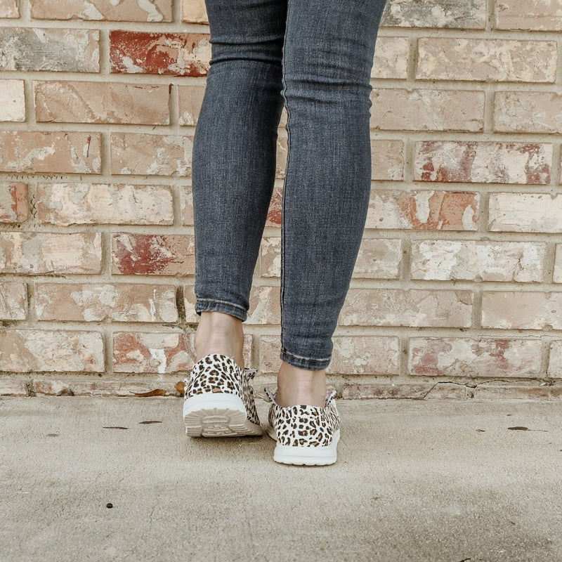 ON SALE - White Cheetah Sneakers- normally 47.95