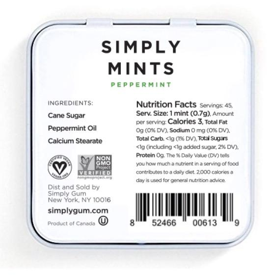 on sale - Simply Mints: Peppermint- NORMALLY 5.99