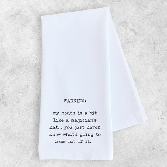 ON SALE -Magician's Hat Tea Towel