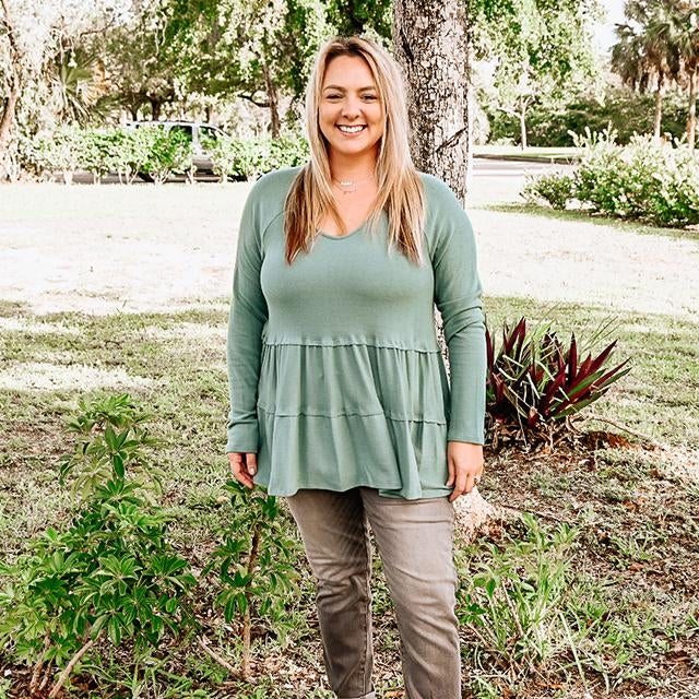 Teal Two Tiered Tunic