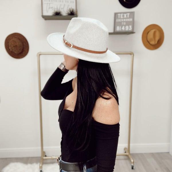 Felt Brown Belted Hat