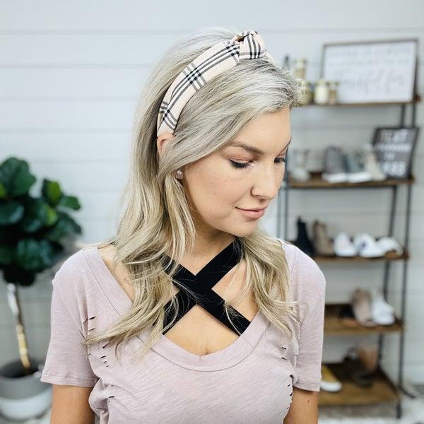 Inspired Plaid Headband