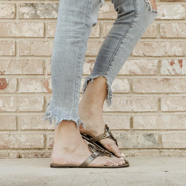 Pewter Color Inspired Sandals