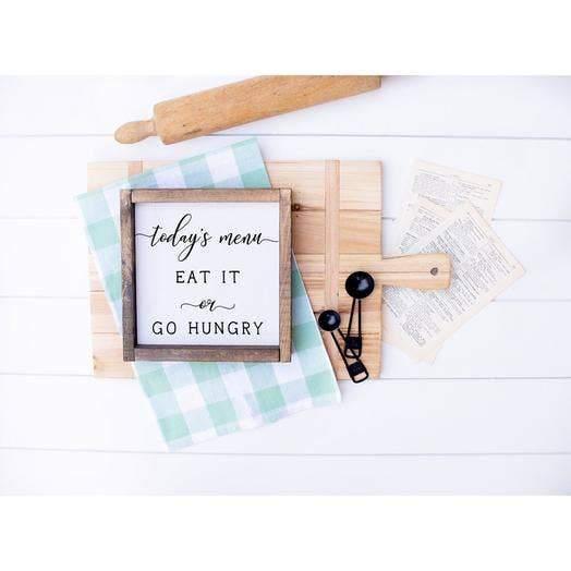 Todays Menu Sign | Wood Sign | Kitchen Wood Sign | - DARK WALNUT