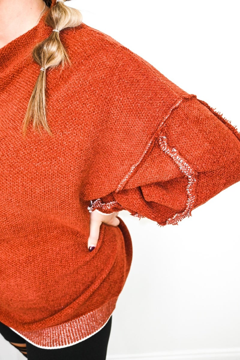 Inside Out Seam Super Soft Sweater